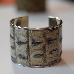 Custom Embossed Leather Cuff Bracelet NWOT